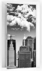 Naklejka na drzwi - Manhattan skyline