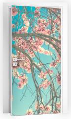 Naklejka na drzwi - Spring blossom