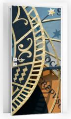 Naklejka na drzwi - prague astronomical clock