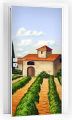 Naklejka na drzwi - Italian vineyard