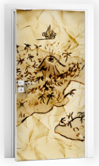 Naklejka na drzwi - Schatzkarte, Illustration