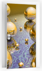 Naklejka na drzwi - mirrorball_et