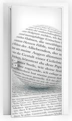 Naklejka na drzwi - Text im Focus