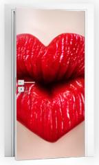 Naklejka na drzwi - saint valentine lips