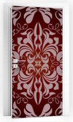 Naklejka na drzwi - Abstract seamless floral pattern