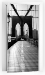 Naklejka na drzwi - Brooklyn Bridge, Manhattan, New York City, USA