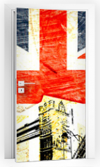 Naklejka na drzwi - drapeau anglais