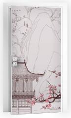 Naklejka na drzwi - Chinese landscape