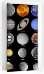 Naklejka na drzwi - The solar system