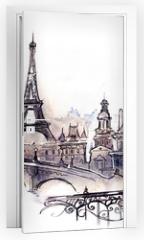 Naklejka na drzwi - Paris (series C)