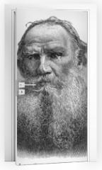 Naklejka na drzwi - Leo Nikolayevich Tolstoy