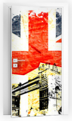 Naklejka na drzwi - drapeau anglais decoupe