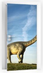 Naklejka na drzwi - Dino