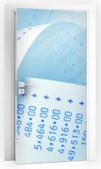 Naklejka na drzwi - Rechenstreifen mit Zahlen.