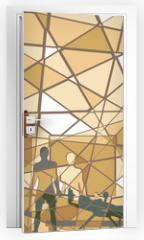 Naklejka na drzwi - Mosaic gym