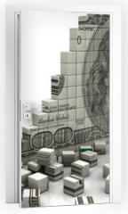 Naklejka na drzwi - Puzzle dollar