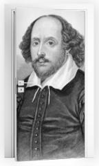 Naklejka na drzwi - William Shakespeare