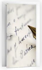 Naklejka na drzwi - Old Letter