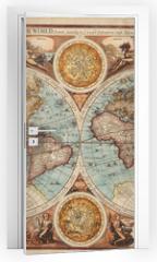 Naklejka na drzwi - Old map (1626)