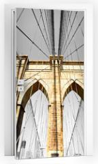 Naklejka na drzwi - The Brooklyn bridge, New York City. USA.