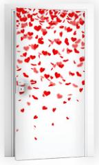 Naklejka na drzwi - Herzkonfettiregen