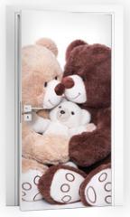Naklejka na drzwi - Teddybären - Familie mit Mutter, Vater und Kind
