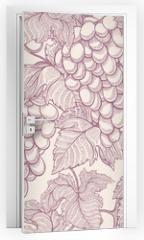 Naklejka na drzwi - ripe grapes