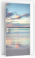 Naklejka na drzwi - Pretty pastel dawn sunrise at Hyams Beach NSW Australia
