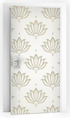 Naklejka na drzwi - water lily , wedding card design, royal India