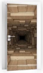 Naklejka na drzwi - tunnel