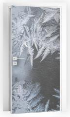 Naklejka na drzwi - pattern on frozen window