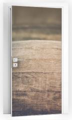 Naklejka na drzwi - Wine Barrel with Vintage Instagram Film Style Filter