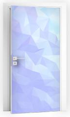 Naklejka na drzwi - Abstract triangles background.
