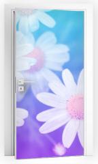 Naklejka na drzwi - Flower pastel style.