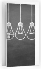 Naklejka na drzwi - Lampen / Idee / Konzept