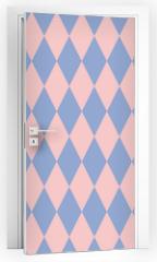 Naklejka na drzwi - Rose quartz and serenity rhombus backdrop. Vector illustration. Seamless pattern.