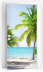 Naklejka na drzwi - Dominikana, Wyspa Catalina