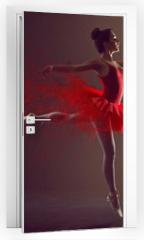 Naklejka na drzwi - Ballerina