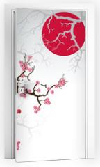Naklejka na drzwi - branch_sakura-01