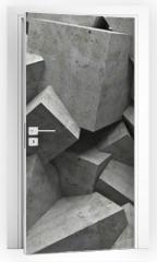 Naklejka na drzwi - cubes wall