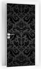 Naklejka na drzwi - Damask Seamless Vector Pattern