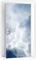 Naklejka na drzwi - Dramatic sky with stormy clouds