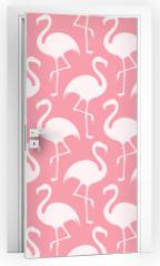 Naklejka na drzwi - Flamingo