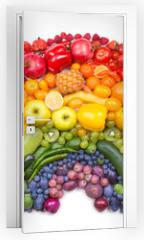 Naklejka na drzwi - fruit and vegetable rainbow