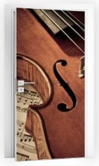 Naklejka na drzwi - Geige mit Notenblatt