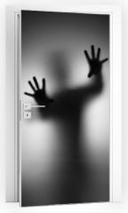 Naklejka na drzwi - Ghosts Hand