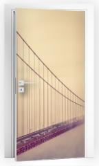 Naklejka na drzwi - Golden Gate Into the Fog