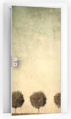 Naklejka na drzwi - grunge image of trees
