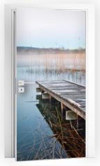 Naklejka na drzwi - Irish lake before sunrise