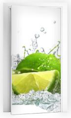 Naklejka na drzwi - lime and water